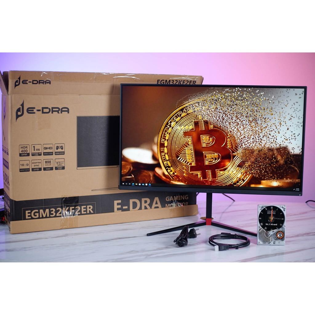 Màn hình máy tính Gaming E-DRA EGMKF2ER 32 inch - Độ phân giải 2K - 144hz - tấm nền IPS - chân xoay 90 độ - HDR400