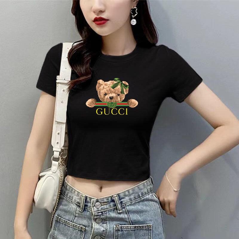 Áo Thun Cotton Tay Ngắn Lưng Cao Thời Trang Xuân Hè Cho Nữ