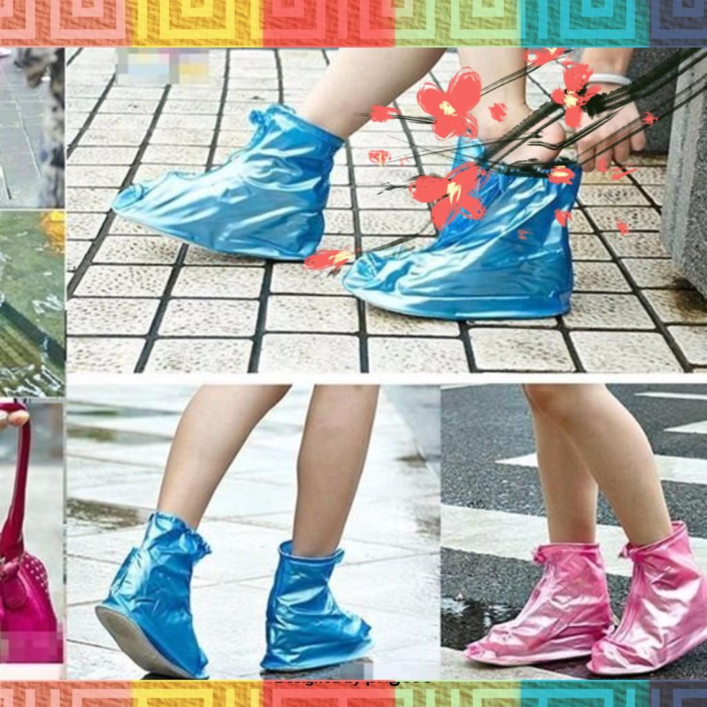 Ủng bọc giày đi mưa Loại đế giày có dây kéo, loại dày