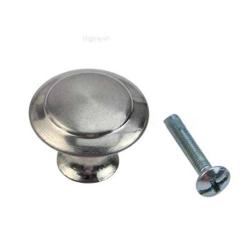 10Pcs Stainless Steel Knobs Handles Drawer Kitchen Cupboard Round Cabinet Pulls