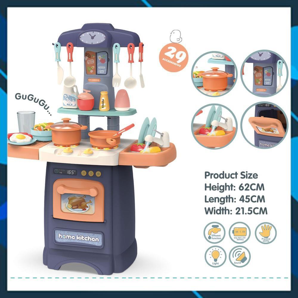 Đồ chơi lắp ghép Bộ bếp nấu ăn đồ chơi có khả năng nấu kệ rủa chén bơm được nước Bằng Nhựa ABS [TOY WORLD]