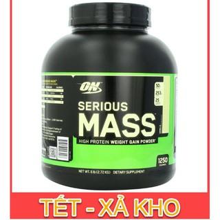 [FREE SHIP + CHÍNH HÃNG] Sữa Tăng Cân Cho Người Gầy On Optimum Nutrition Serious Mass 6 lbs (2.6 kg) [100% USA]
