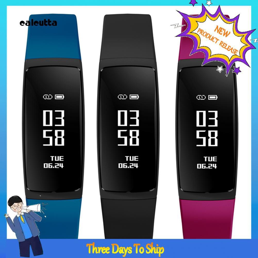 ✡CAL✡V07S Slim Heart Rate Blood Pressure Monitor Call Reminder Smart Bracelet Watch