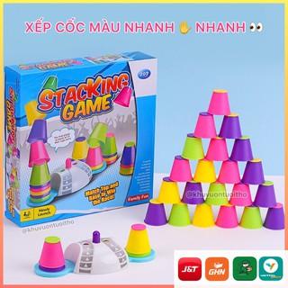 Trò chơi xếp cốc nhựa nhanh tay nhanh mắt phát triển trí thông minh cho bé từ 3 tuổi