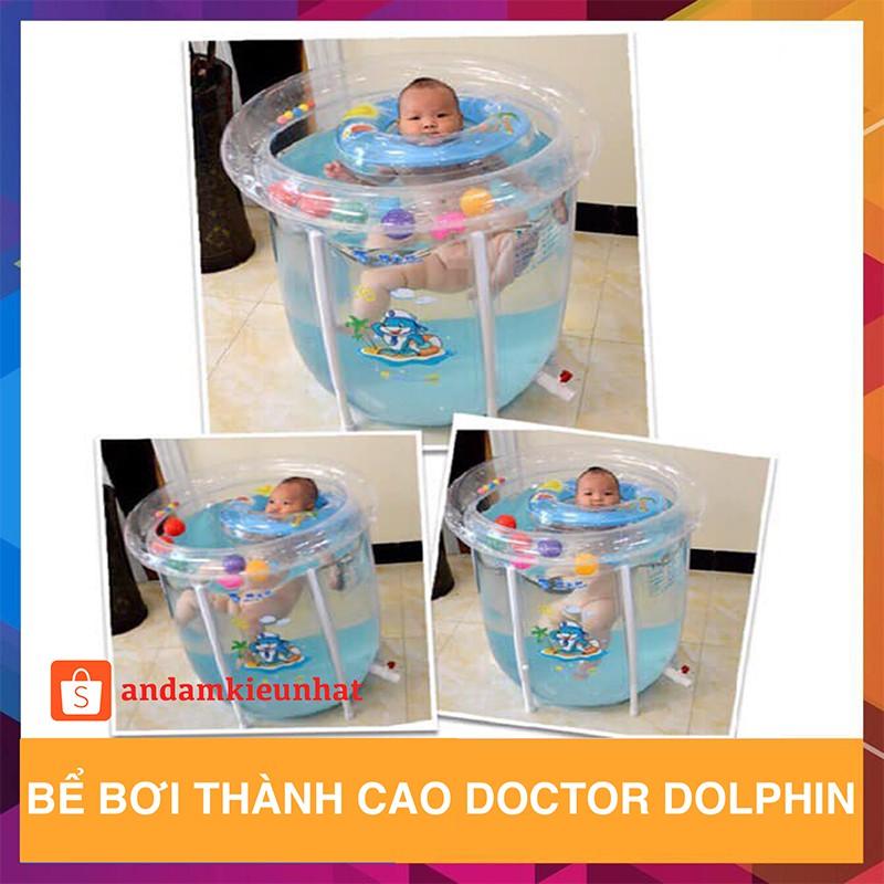 Bể bơi thành cao Doctor Dolphin loại to (Tặng kèm phao, bơm,…)