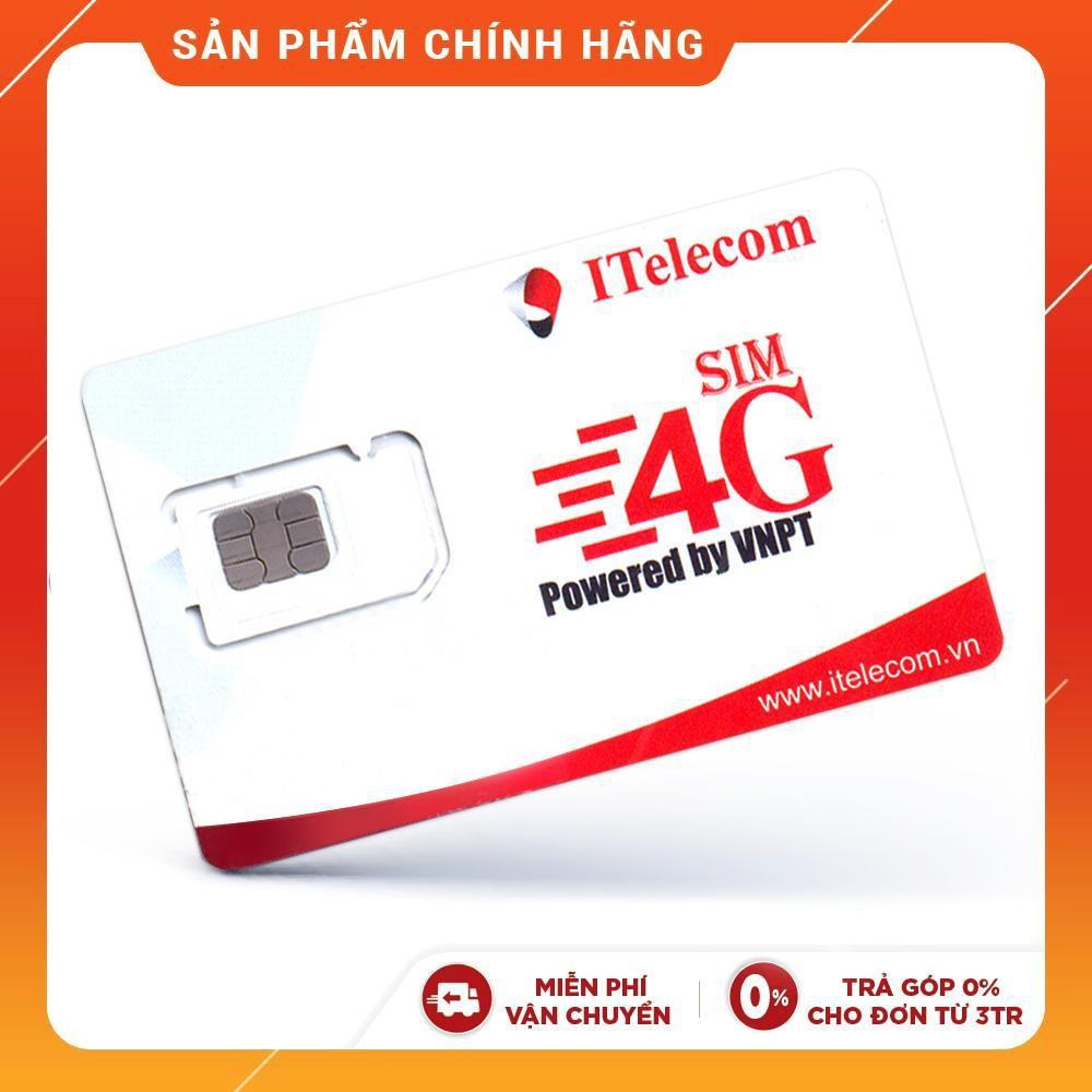 [Mã ELMALLMT giảm 8% đơn 900K]SIM 4G I-Telecom gói cước MAY tặng 90GB DATA, miễn phí nghe gọi, miễn phí SMS