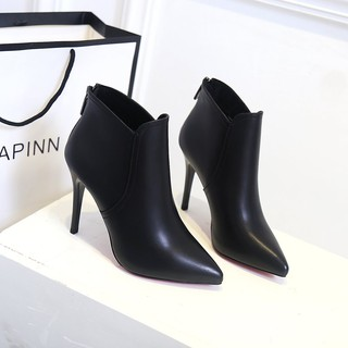 №net celebrity women s shoes boots autumn 2020 new pointed short wild single sexy stiletto high heels Martin winter
