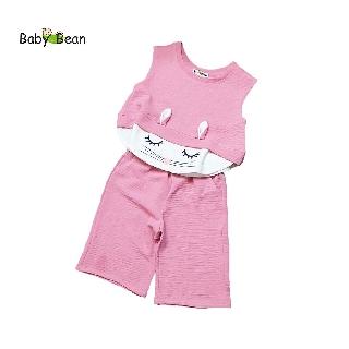 Đồ Bộ Lửng Bé Gái Chất Đũi Túi Thêu Thỏ Đáng Yêu BabyBean