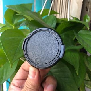 Nắp Đậy Ống Kính (Lens Cap) Loại Mỏng - Không chữ - Bấm Bên Hông - Full Size thumbnail