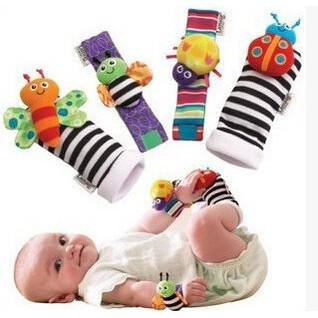 Lamaze Rattle Set /Baby Sensory Toys Foot-finder Socks/Wrist Rattles Bracelet