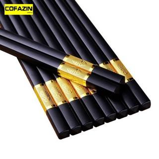 Đũa hợp kim cao cấp (10 đôi), đũa mạ vàng hàn quốc, đũa ăn đa năng – DUAC10