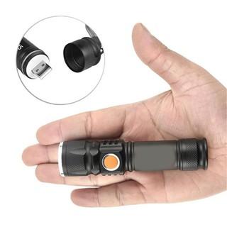 Đèn pin siêu sáng cổng sạc USB 515