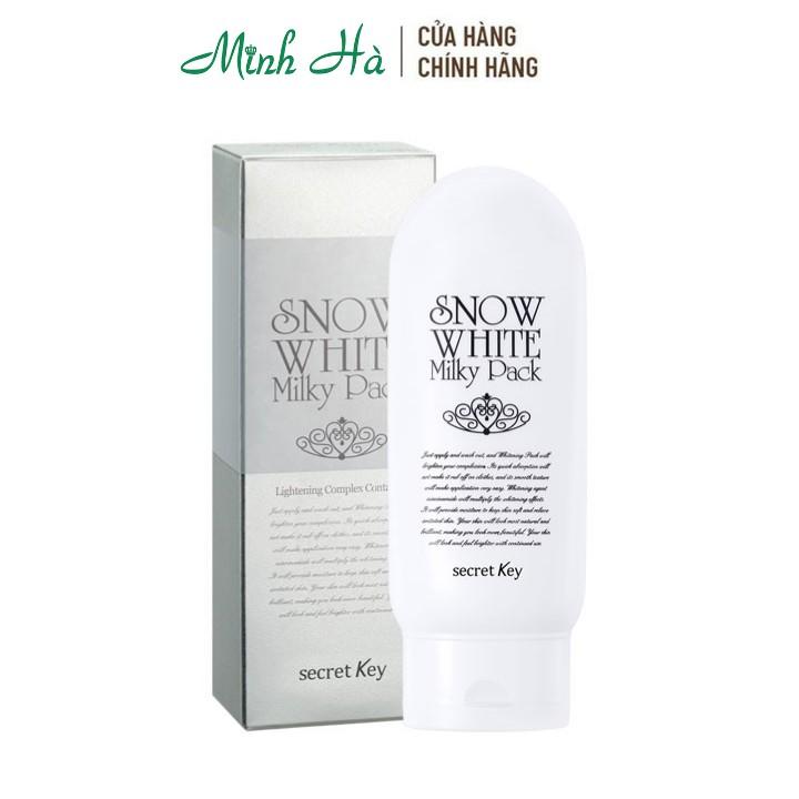 Kem dưỡng trắng toàn thân Secret Key Snow White Milky Pack 200g - mỹ phẩm MINH HÀ cosmetics