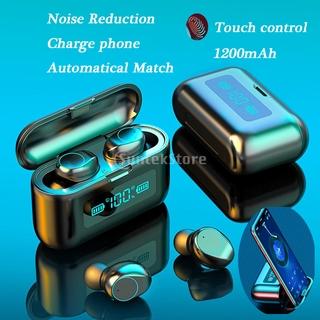 Tai nghe Bluetooth F9 hỗ trợ chống tiếng ồn tích hợp Microphone cho Android IOS