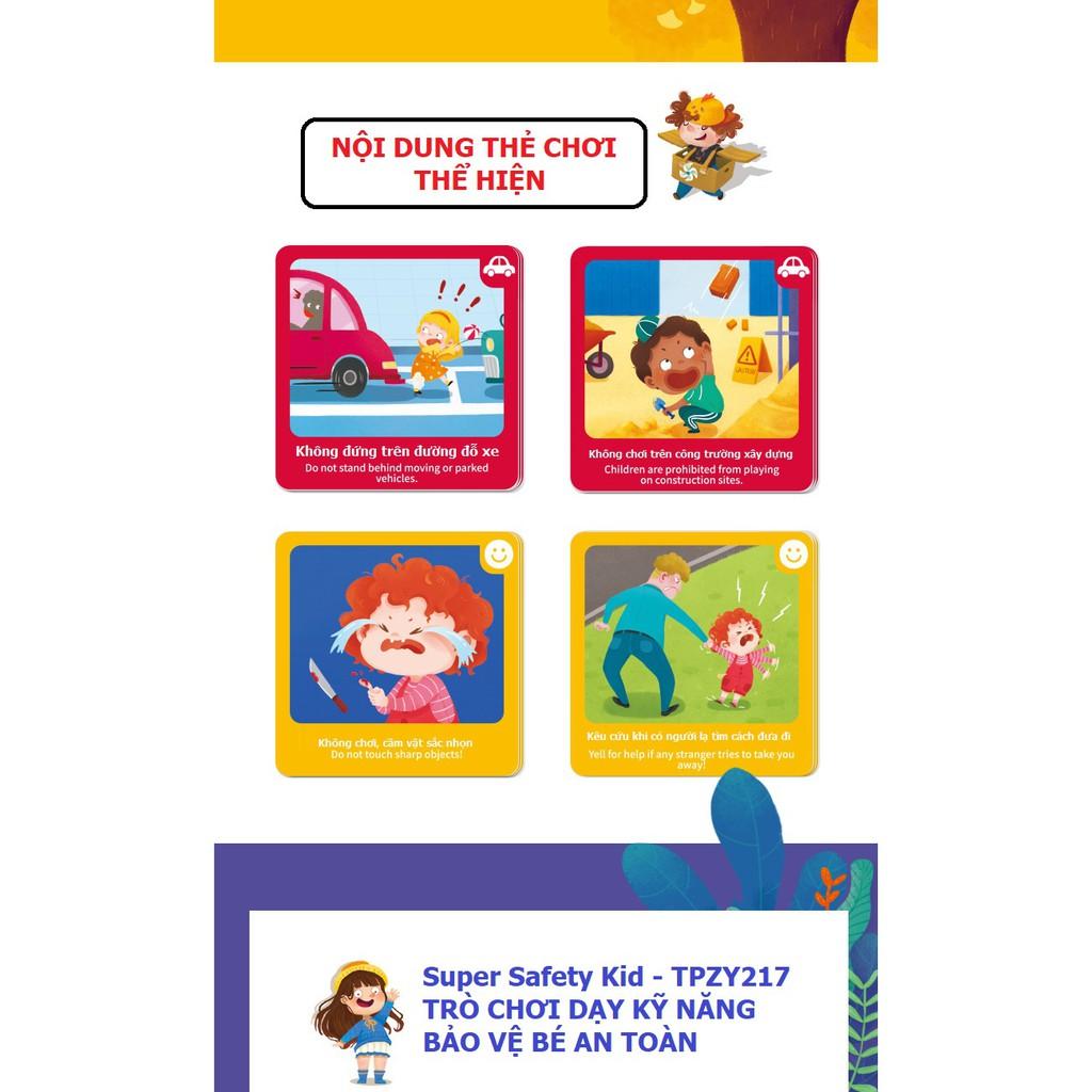 Bộ Board game dạy kỹ năng cho trẻ An Toàn Là Trên Hết - Super Safety Kids  Chính hãng TOI dành cho bé từ 3 tuổi giá cạnh tranh