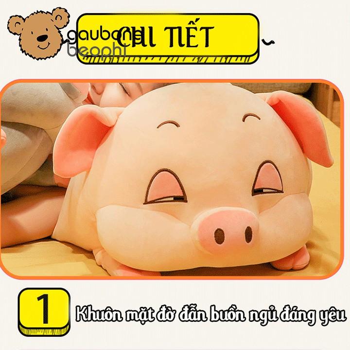 Bộ chăn gối hình heo đờ đẫn, heo phê cần đồ chơi trẻ em shop gấu bông béo phì