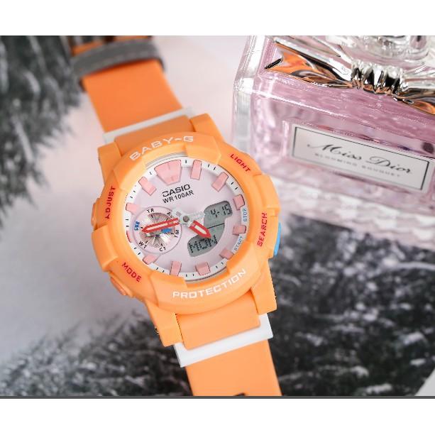 BABY-G BGA-185 นาฬิกาอิเล็กทรอนิกส์ นาฬิกาข้อมือแฟชั่นสตรี นาฬิกาข้อมือกันน้ำ