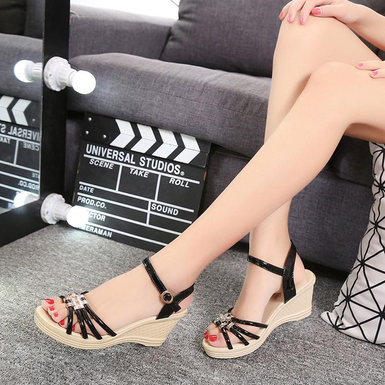 Sandal đế xuồng phong cách hàn quốc hàng nhập kèm hình thật