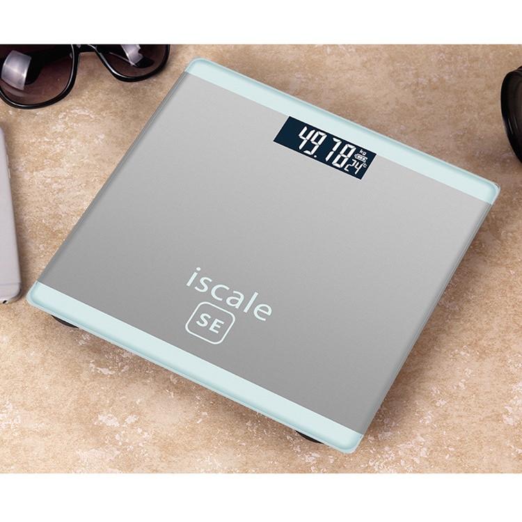 Cân điện tử Cân sức khoẻ cân y tế cao cấp ISCALE-SE, độ chính xác cao, Bh 6 tháng tặng kèm PIN