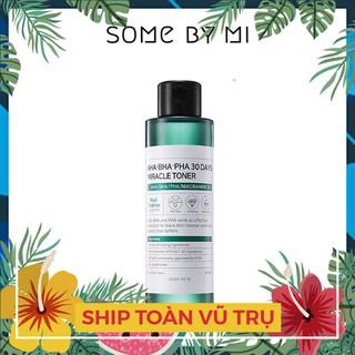 [FAKE TẶNG LUÔN] Nước Hoa Hồng Trị Mụn Some By Mi AHA-BHA-PHA 30 Days Miracle Toner 150ml