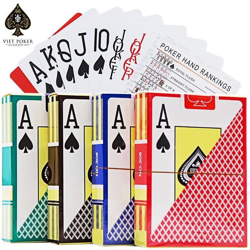 [Chính hãng] Bài nhựa Texas Hold'em – Bài Poker – Bài casino – Bài Tây Playing Cards 100% Plastic