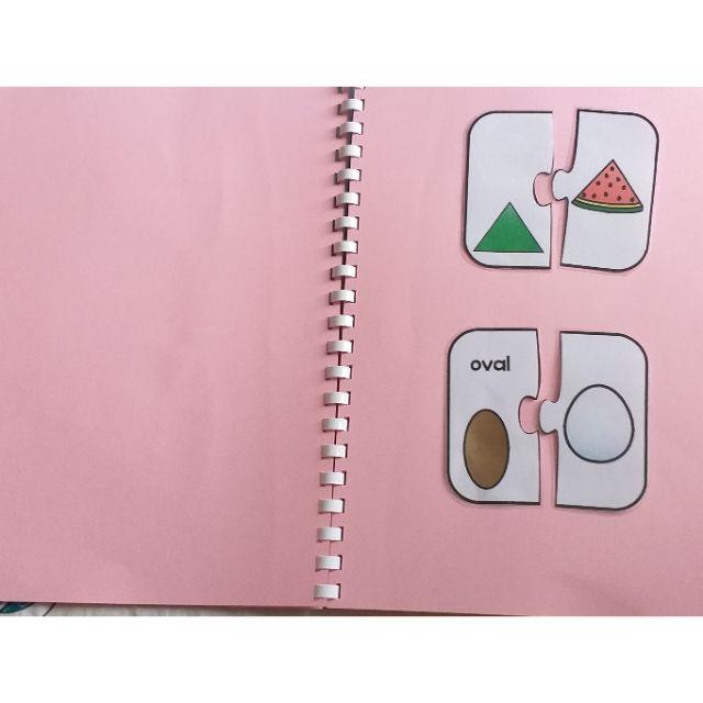 Sách ráp hình học cho bé