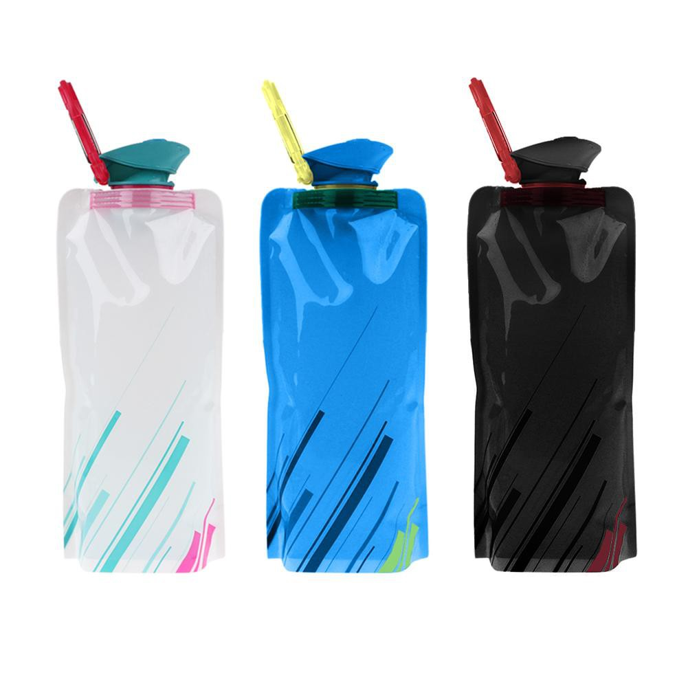 ✪ 700ML Camping Hiking Portable Collapsible Folded Drink Water Bag Travel Cup Valentinesss