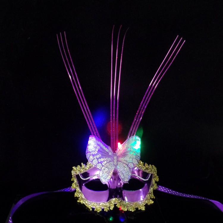 SK-mặt nạ lông vũ có đèn-( MK3) mã sp DI186