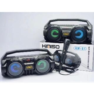 [Mã ELMSBC giảm 8% đơn 300K] Loa Bluetooth Kamiso S1 kèm mich hát có lỗ usb và thẻ nhớ