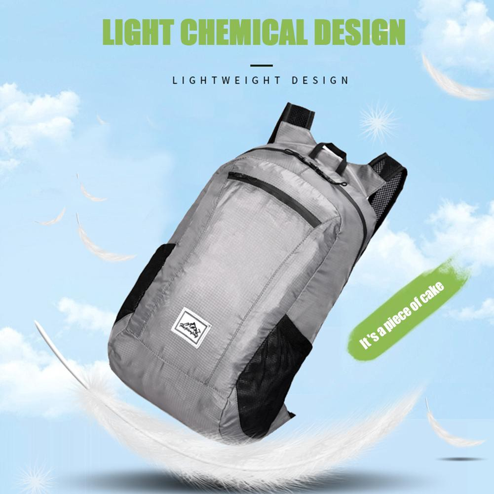 20L Folding backpack ultra-light waterproof camping bag men women skin package outdoor travel bags