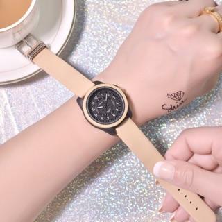 Đồng hồ nữ Doukou chính hãng dây da dẻo dai mặt thiết kế thời trang phong cách