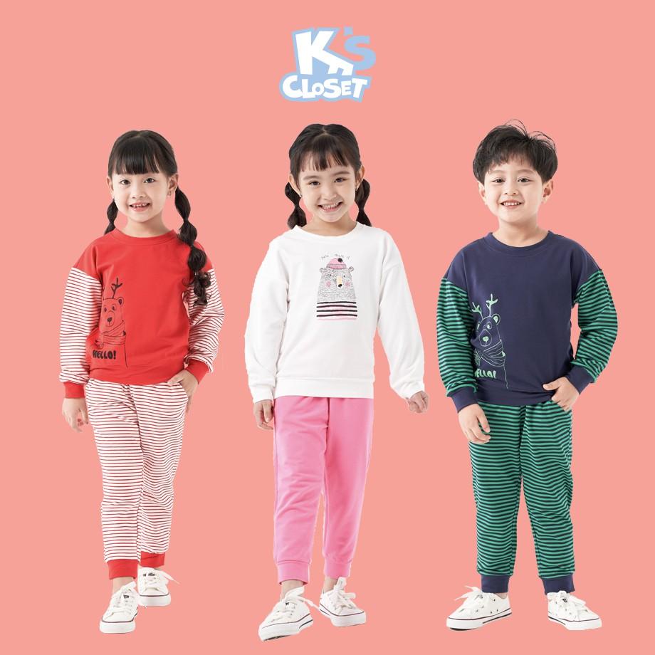 Bộ Quần Áo Jumper / Dài Tay Cho Bé Trai và Bé Gái (1-9 Tuổi) K's Closet E006TEF / E013TEF TM