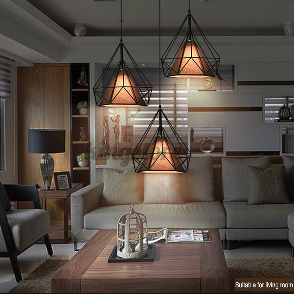 Đèn Treo Trần Kim Loại Trang Trí Phòng Khách, Phòng Ngủ