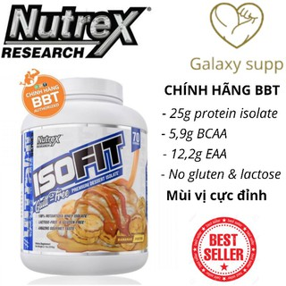 Whey Isofit tinh khiết 100% isolate