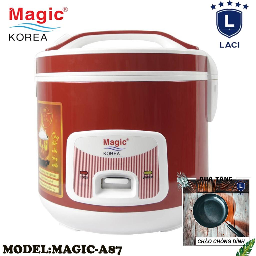 Nồi cơm điện lòng niêu Magic Korea A87   Dung Tích 2L   Công Suất 700W   Tặng Chảo Chống Dính