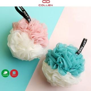 Bông tắm tròn vải lưới mềm mại cao cấp, bông tắm tạo bọt Hàn Quốc đẹp rẻ tốt COLLEN LIFE