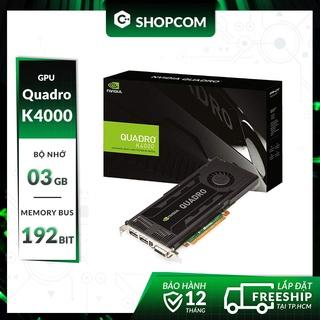 Card màn hình Nvidia Quadro K4000 - 3G DDR5 192Bit thumbnail