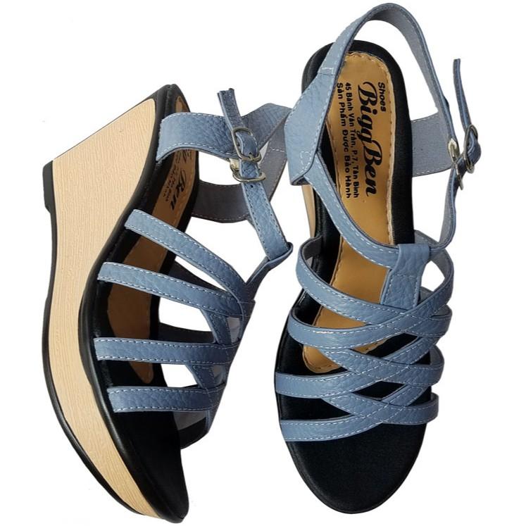 Giày sandal nữ đế xuồng da bò BIGGBEN HKD071