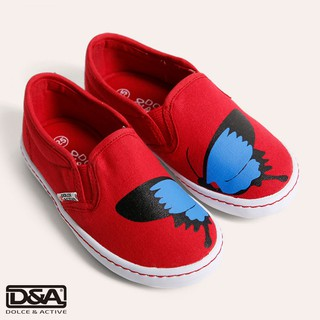 D&A giầy slipon bé gái BG1704 đỏ. thumbnail