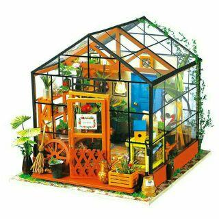 Mô hình nhà gỗ búp bê dollhouse DIY – DG104 Flower Shop