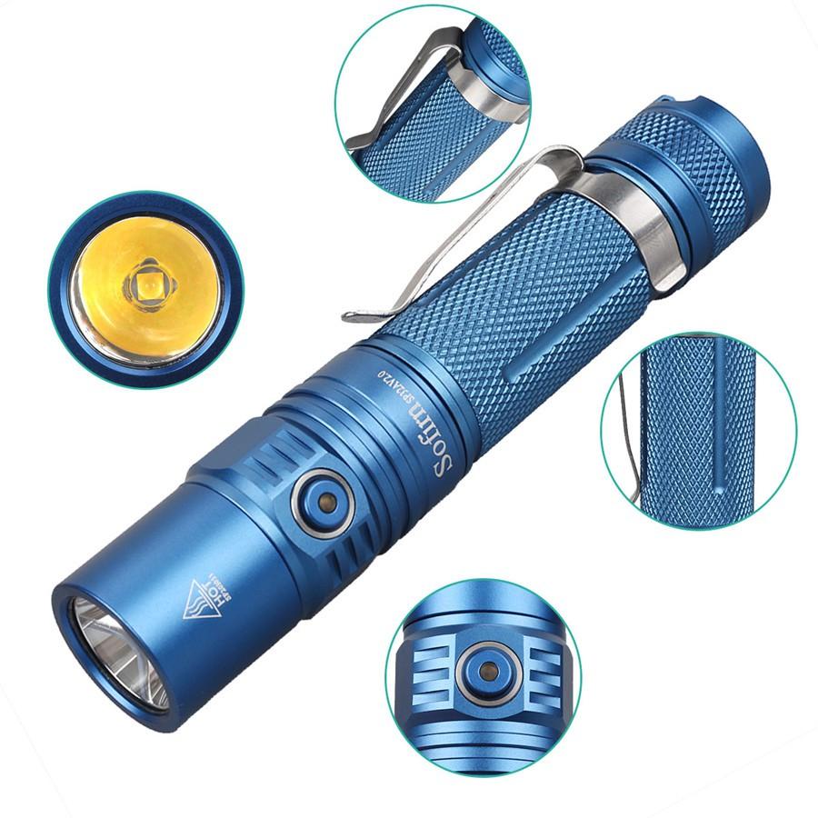 Đèn pin chống nước có chức năng chụp đèn flash sofirn sp32a V2.0 1300LM  CREE xpl2 giảm chỉ còn 484,000 đ