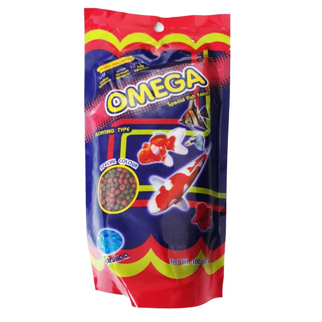 Thức Ăn Cá Omega (Viên Vừa) 100g - Cám Cá