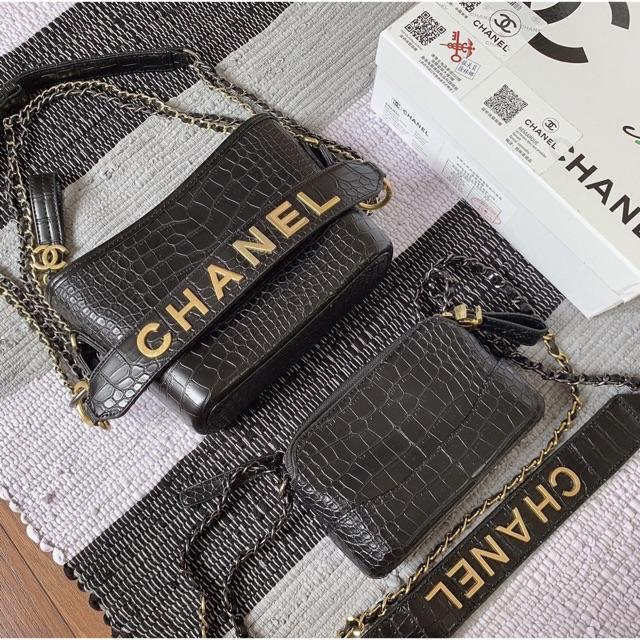 Cặp đôi Chanel hobo hot hit 2019 fullbox, bill