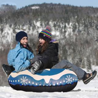 WON Floated Skiing Board PVC Winter Inflatable Ski Circle Outdoor Snow Tube Skiing Accessories