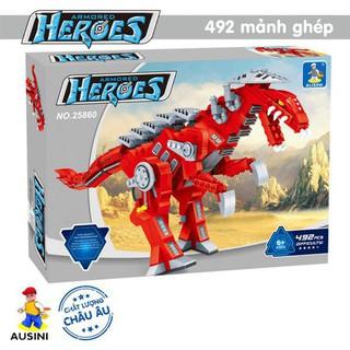 Hộp lego xếp hình Khủng long Armored Heroes 25860