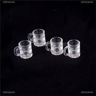 moon.vn 4 ly uống bia bằng nhựa cho nhà búp bê 1 / 12 ☀$
