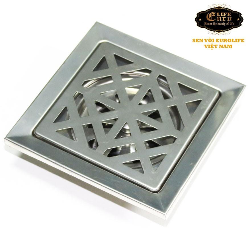 Hố ga thoát sàn Inox 15X15cm Eurolife EL-X33 ( Trắng bạc) - 10060763 , 272142474 , 322_272142474 , 145000 , Ho-ga-thoat-san-Inox-15X15cm-Eurolife-EL-X33-Trang-bac-322_272142474 , shopee.vn , Hố ga thoát sàn Inox 15X15cm Eurolife EL-X33 ( Trắng bạc)