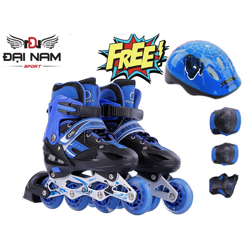 Giày trượt patin trẻ em OS + Tặng bộ bảo hộ