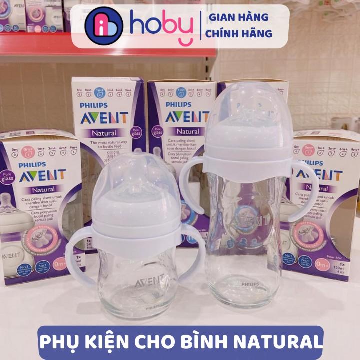 Tay cầm bình sữa Philips Avent Natural cổ rộng cho bé tập cầm nắm - Phụ kiện bình sữa cho bé [HOBY]