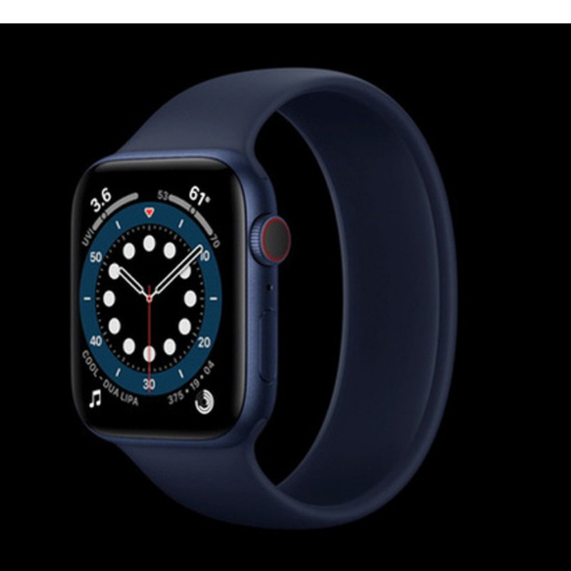 Đồng Hồ Thông Minh Apple Watch Series 6 GPS Space Gray Aluminum Case Black Sport Band